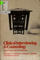 Cover of: Clinical interviewing and counseling