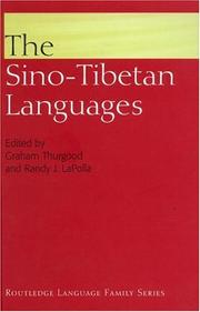Cover of: Sino-Tibetan Languages | G. Thurgood