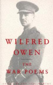 Cover of: War Poems of Wilfred Owen | Jon Stallworthy