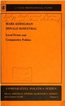 Cover of: Local power and comparative politics