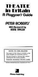 Cover of: Theatre in Britain | Roberts, Peter