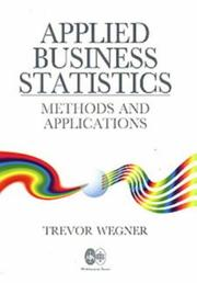 Cover of: Applied business statistics