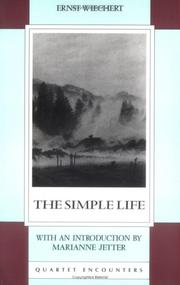 Cover of: simple life | Ernst Emil Wiechert