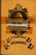 Cover of: Memories. | C. Kegan Paul