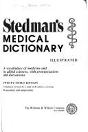 Cover of: Stedman's medical dictionary, illustrated