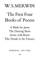 Cover of: The first four books of poems | W. S. Merwin