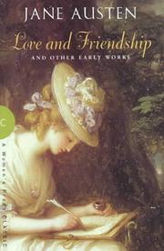 Cover of: Love and friendship, and other early works