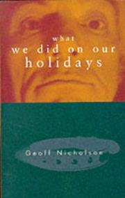 Cover of: What We Did on Our Holidays