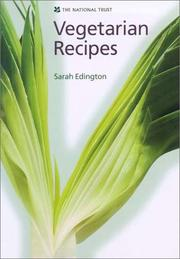 Cover of: Vegetarian Recipes | Sarah Edington