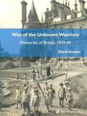 Cover of: War of the Unknown Warriors