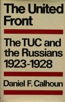Cover of: The United Front! | Daniel F. Calhoun