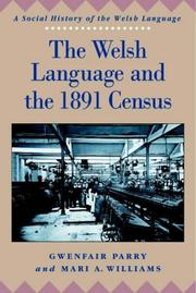 Cover of: The Welsh language and the 1891 census