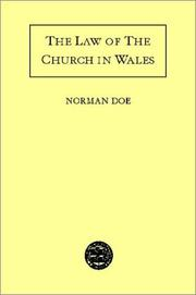 Cover of: The law of the Church in Wales
