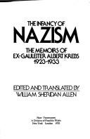 Cover of: The infancy of Nazism | Krebs, Albert