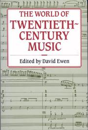 Cover of: The world of twentieth-century music