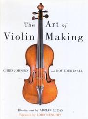 Cover of: The art of violin making