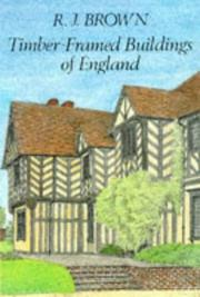 Cover of: Timber Framed Buildings in England | R. J. Brown