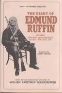 Cover of: The diary of Edmund Ruffin