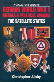 Cover of: German Medals and Political Awards, the Satellite States