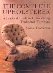 Cover of: The complete upholsterer