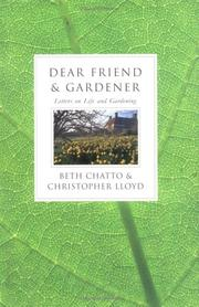 Cover of: Dear Friend and Gardener