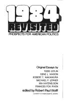 Cover of: 1984 revisited; prospects for American politics