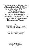 The United Empire Loyalists by Wallace, W. Stewart