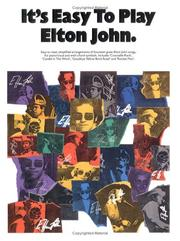 Cover of: It's Easy to Play Elton John