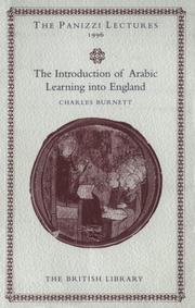Cover of: The introduction of Arabic learning into England | Charles Burnett