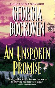 Cover of: An Unspoken Promise