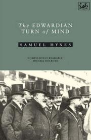 Cover of: The Edwardian turn of mind