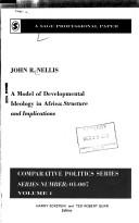 Cover of: A model of developmental ideology in Africa: structure and implications