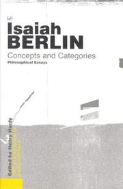 Cover of: Concepts And Categories | Berlin