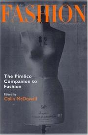 Cover of: THE PIMLICO COMPANION TO FASHION