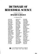 Cover of: Dictionary of behavioral science | Benjamin B. Wolman