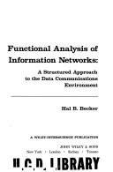 Cover of: Functional analysis of information networks