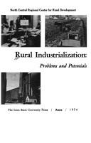 Cover of: Rural industrialization: problems and potentials. |