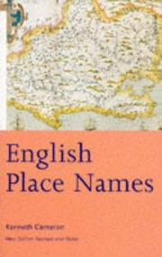 English place-names by Kenneth Cameron