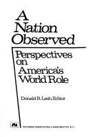 Cover of: A nation observed