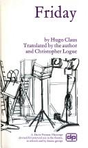 Cover of: Friday: Translated by the author and Christopher Logue.