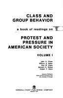Cover of: Class and group behavior | [Edited by] John H. Florer [and others]