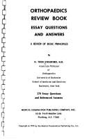 Cover of: Orthopaedics review book: essay questions and answers
