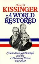 Cover of: A world restored