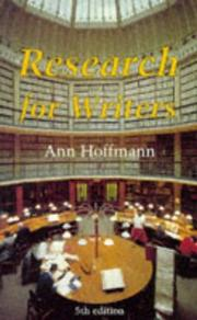 Cover of: Research for Writers (Writing) | Ann Hoffmann