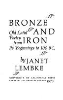 Cover of: Bronze and iron