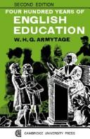 Cover of: Four hundred years of English education