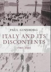Cover of: Italy and Its Discontents 1980-2001