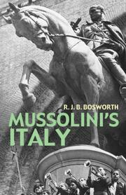Cover of: Mussolini's Italy