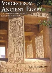 Cover of: Voices from Ancient Egypt | R. B. Parkinson