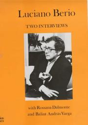Cover of: Two Interviews